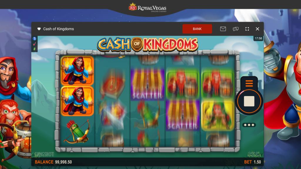 royal vegas casino games