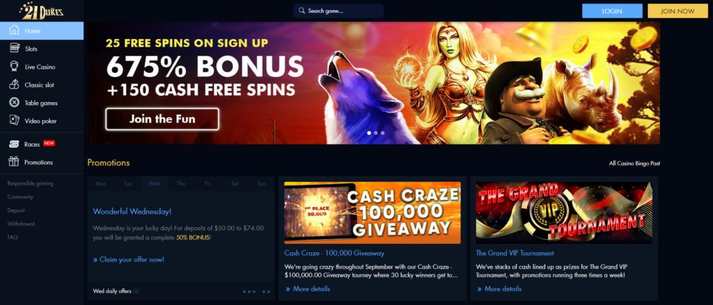21dukes casino no deposit bonus