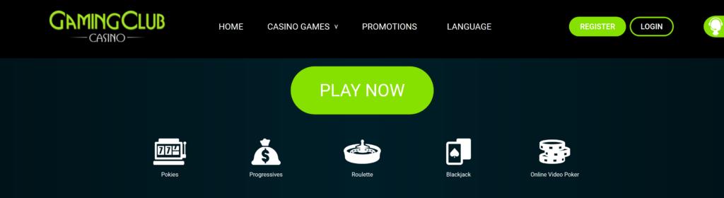 gaming club casino vip