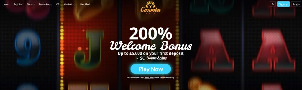 casimba free spins