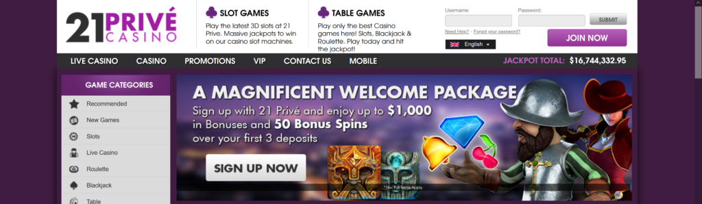21prive 50 free spins