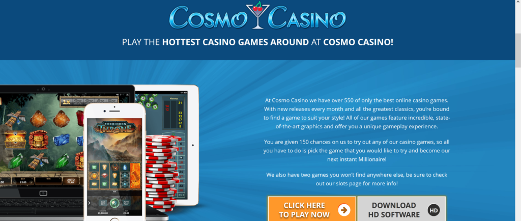Cosmo Casino Mobile Login