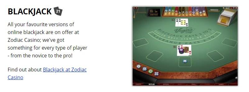 zodiac blackjack